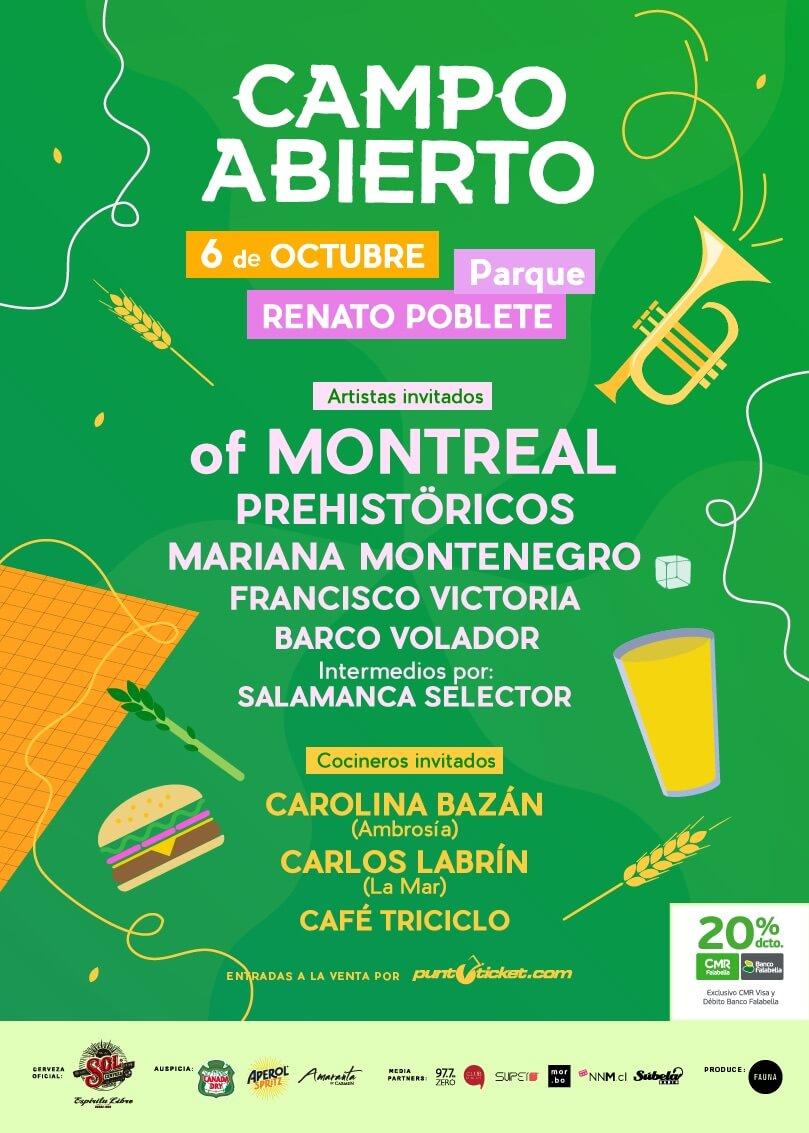 Poster Campo Abierto 2018. Imagen: Fauna Producciones