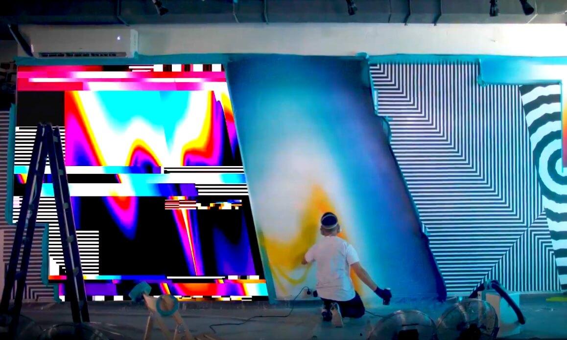 La nueva creación de Felipe Pantone son hologramas cinéticos musicales y sensoriales