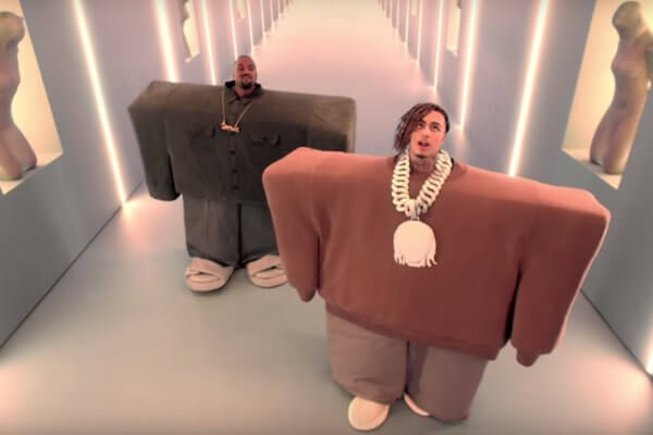 Kanye West y Lil Pump en el video