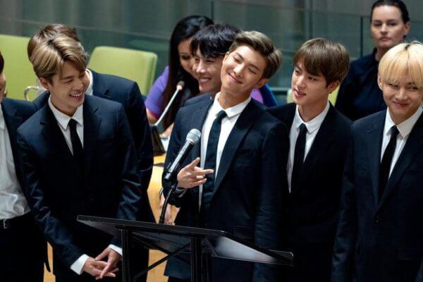BTS en las Naciones Unidas. Fotografía: AFP