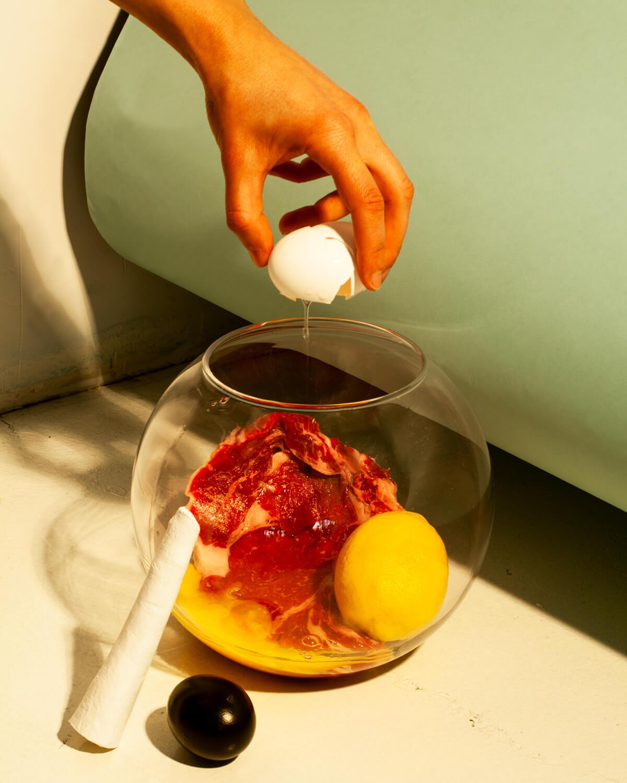 """Steak and Egg"". Fotografía: Joon Lee"