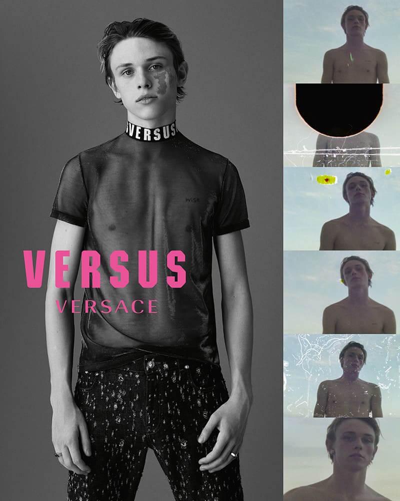 Judah Lang en la campaña de Versus Versace del 2018. Imagen: Just Jared