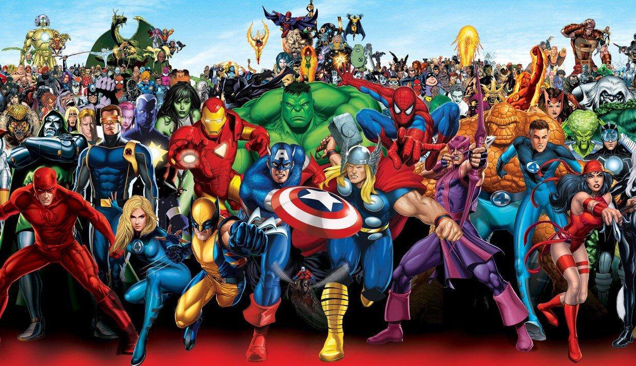 Algunos de los personajes de Stan Lee. Imagen: Marvel Comics