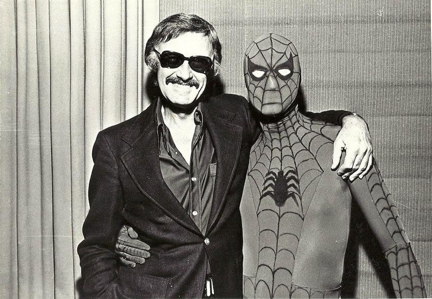 Stan Lee y Spider-Man. Fotografía: Lambiek
