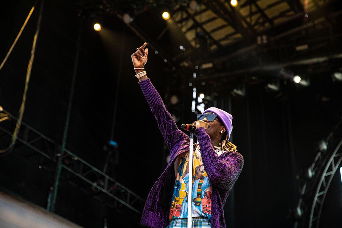 Young Thug en el Astroworld Festival 2018. Fotografía: Rahil Ashruff