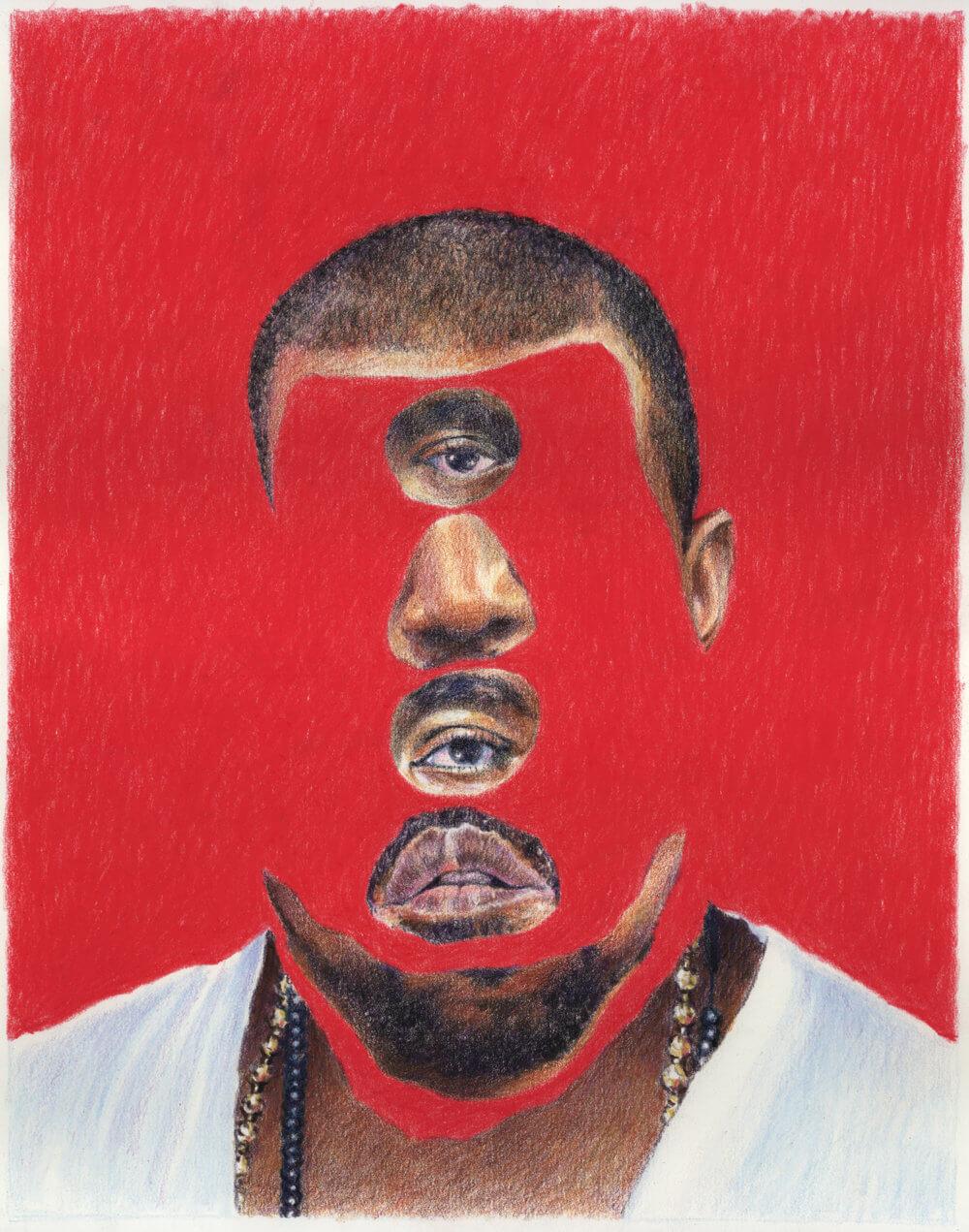 Kanye Stack. Arte: Eric Yahnker