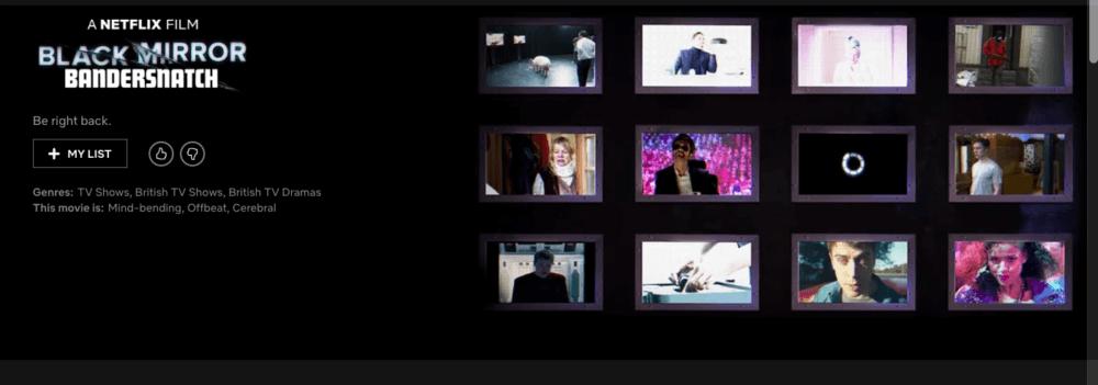 Black Mirror: Bandersnatch. Imagen: Netflix