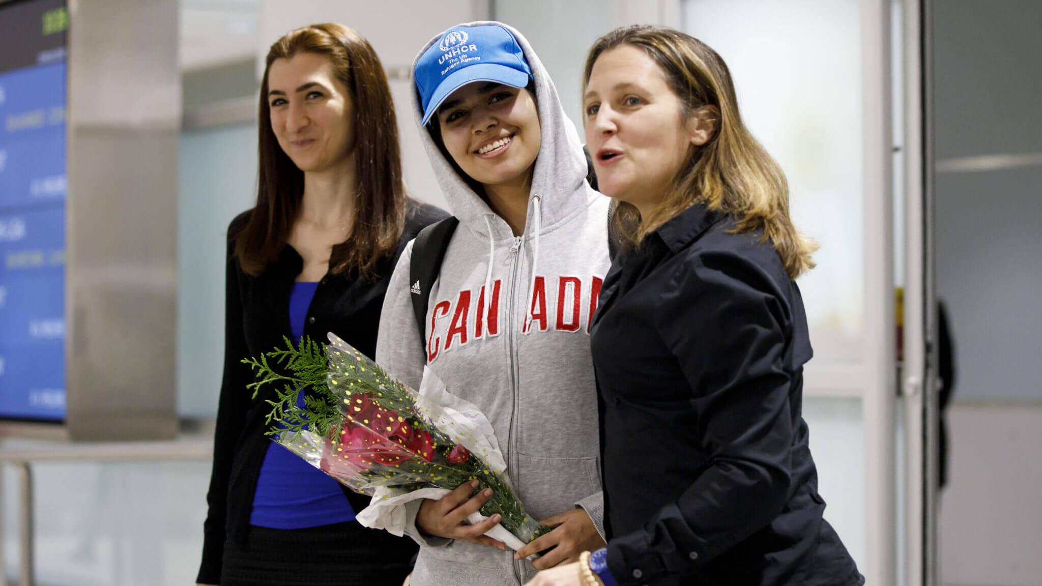 Rahaf al-Qunun es recibida oficialmente en Canadá en calidad de asilada y refugiada