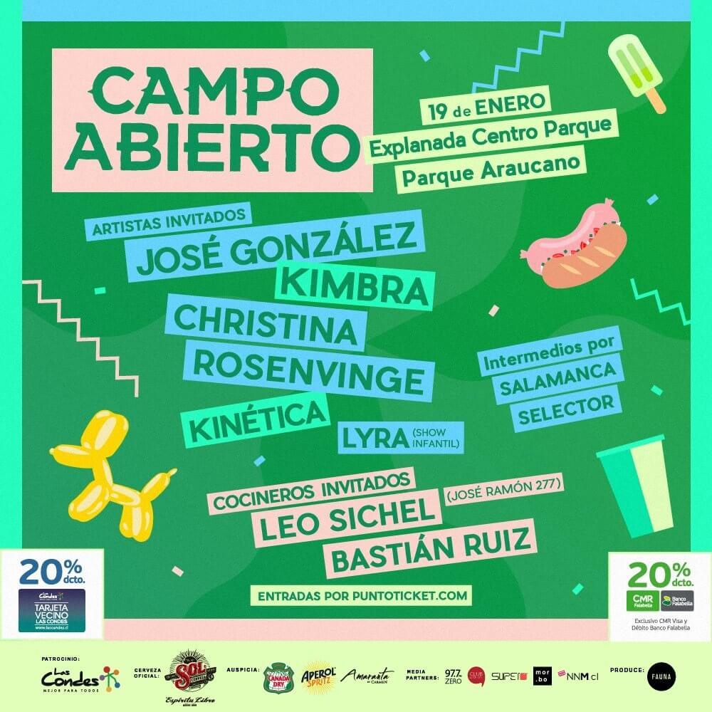 Lineup Campo Abierto 2019