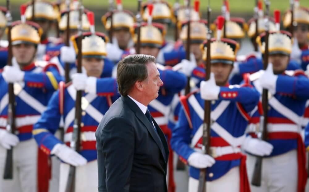 Jair Bolsonaro en su toma de posesión. Imagen: Pilar Olivares/Reuters