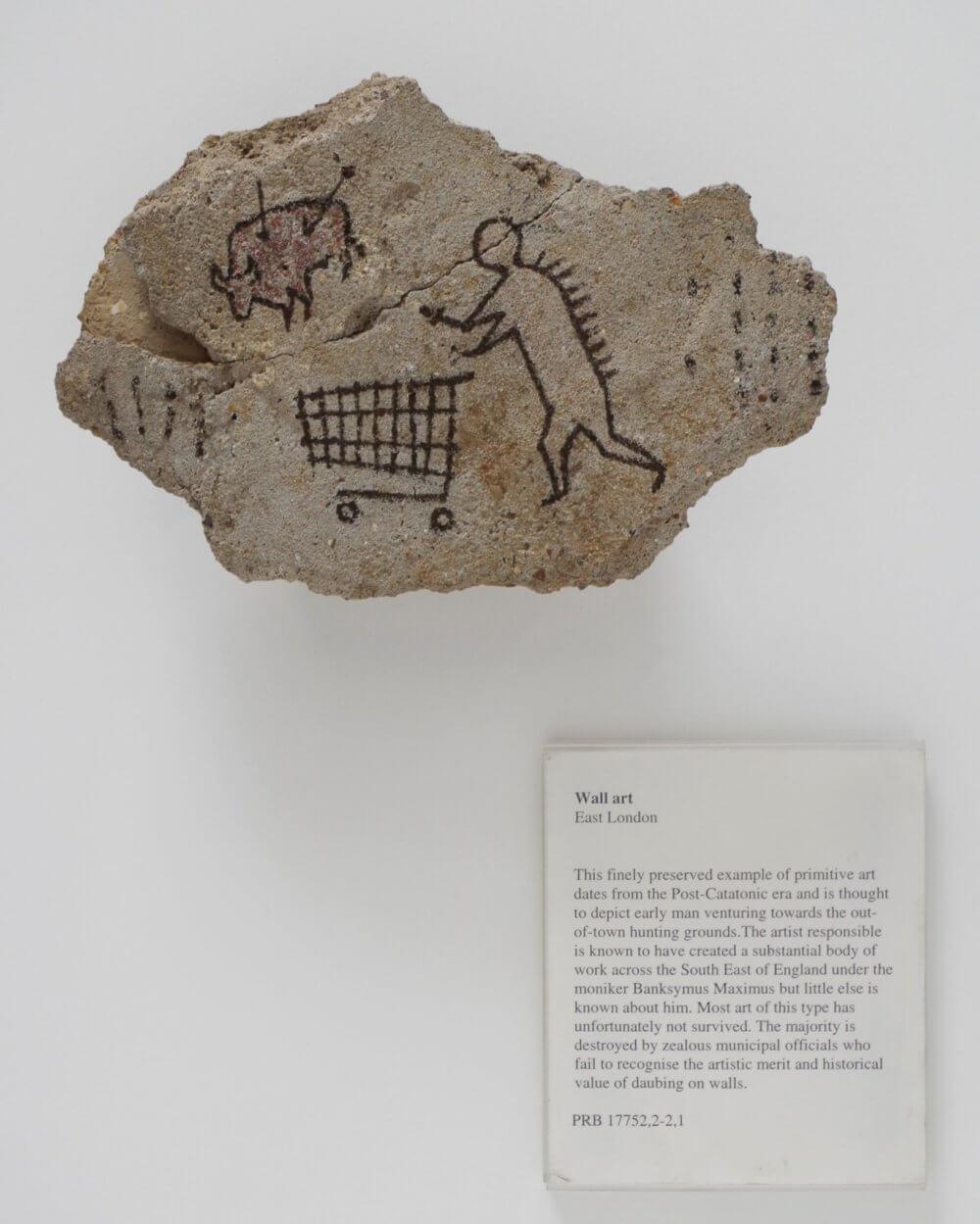 """""""Peckham Rock"""" de Banksy, 2005. Imagen: Pest Control"""