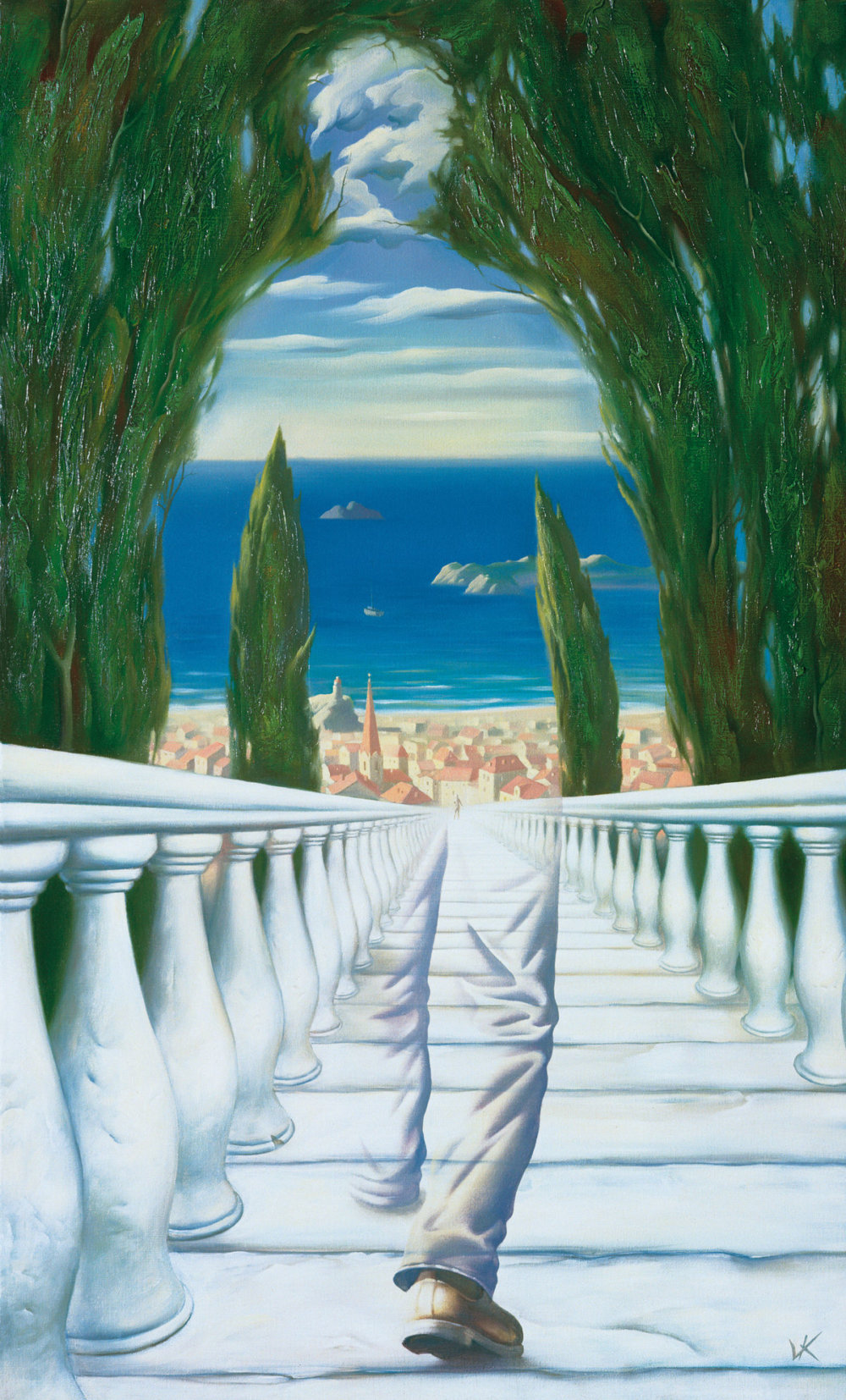 "Vladimir Kush, ""Descent to the Mediterranean"", 1994. © Kush Fine Arts Limited 2019"