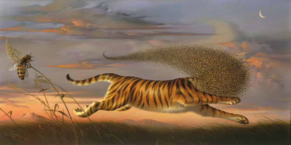 "Vladimir Kush, ""Beeing a Tiger"", 2007. © Kush Fine Arts Limited 2019"