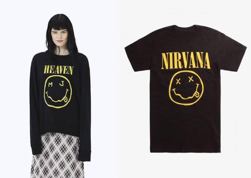 Marc Jacobs vs. Nirvana. Imagen: Pedestrian TV