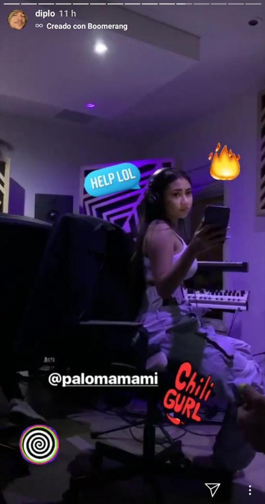 Paloma Mami en las Stories de Dimplo. Imagen: Instagram/Diplo