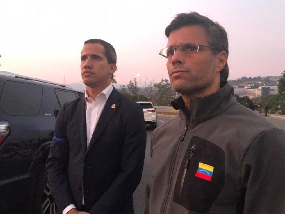 Venezuela: Líder opositor Juan Guaidó encabeza alzamiento militar contra Nicolás Maduro