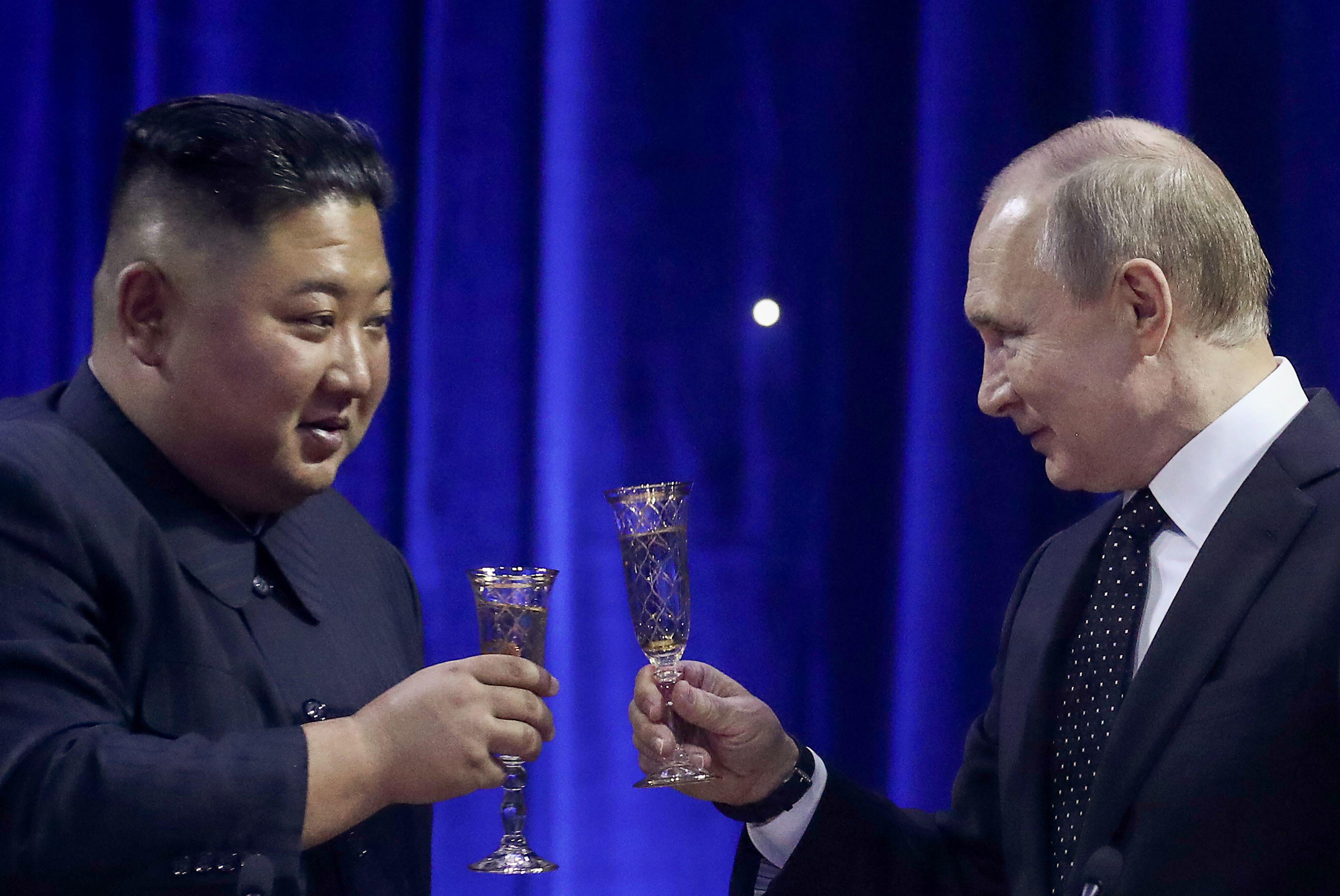 Kim Jong Un y Vladimir Putin. Fotografía: Valery Sharifulin/Tass via Getty Images