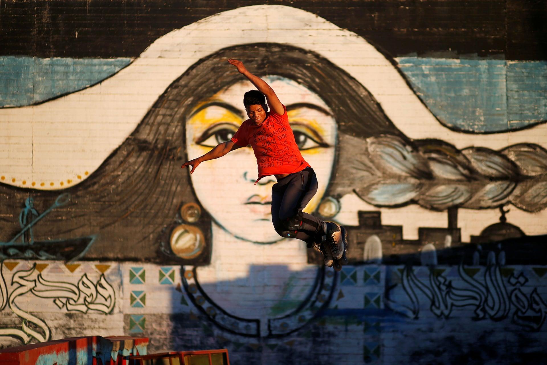 Gaza Youth Skate. Fotografía: Mohammed Salem/Reuters