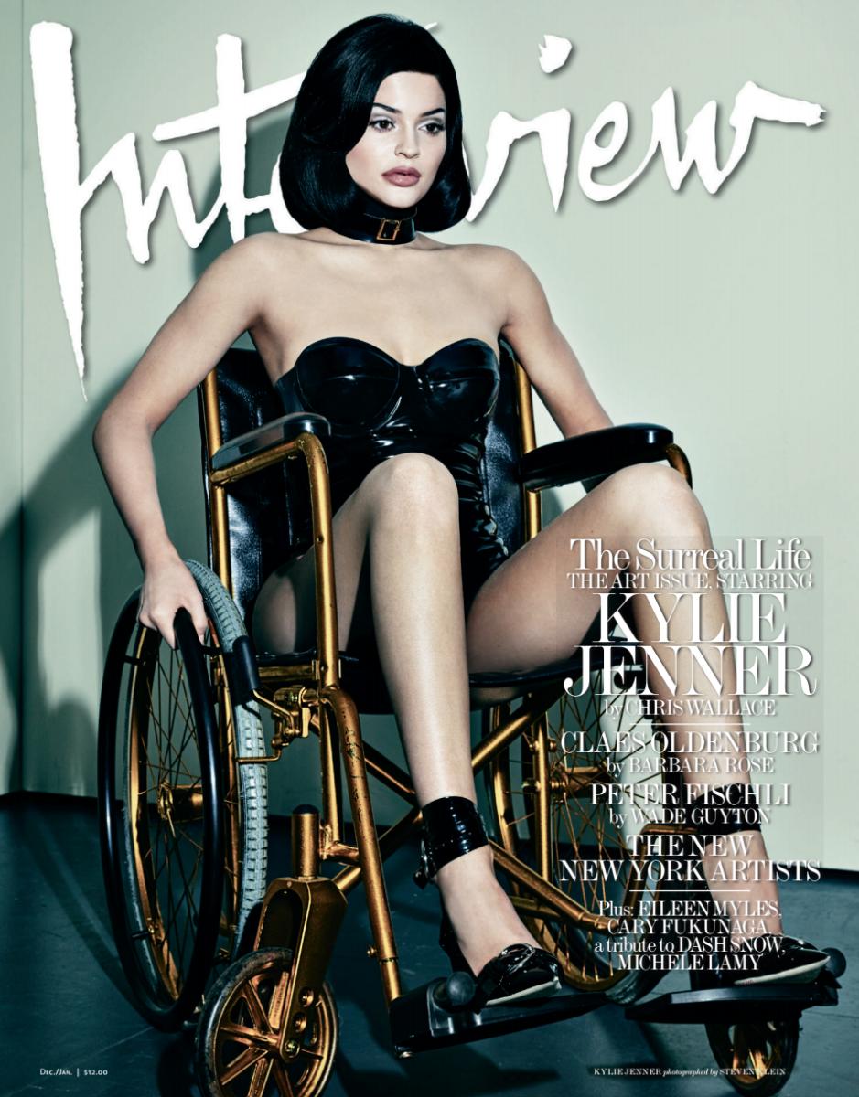 Kylie Jenner en la portada de Interview Magazine. Fotografía: Steven Klein