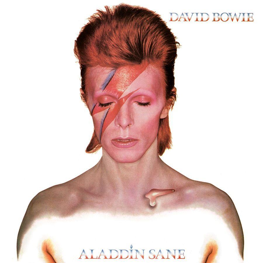 """Portada del álbum """"Aladdin Sane"""" de David Bowie."""