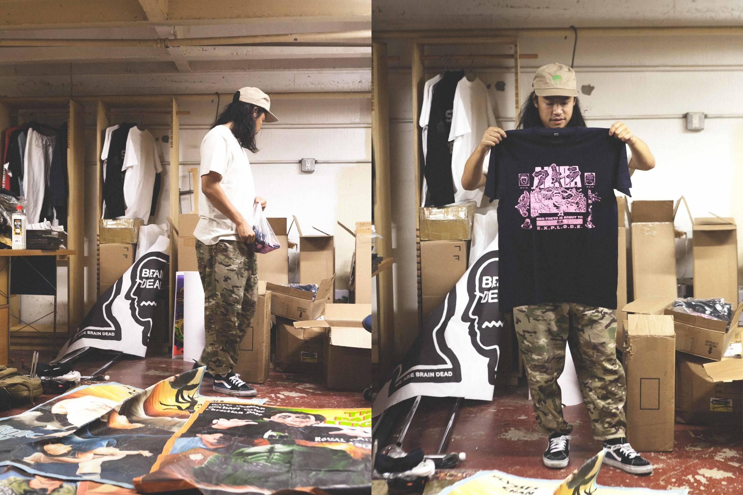 Kyle Ng en el estudio de Brain Dead. Fotografía: Slam Jam Socialism