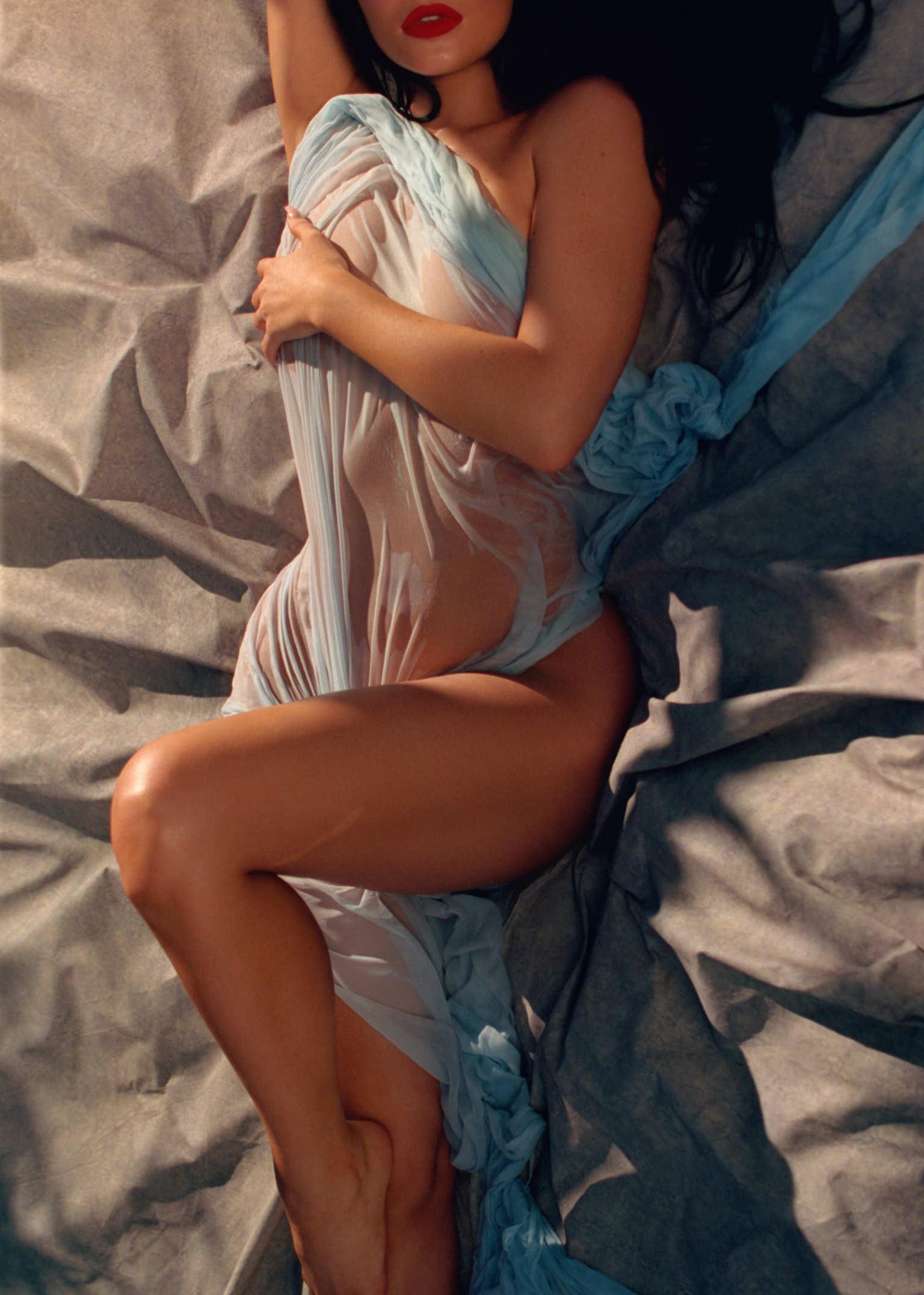 Kylie Jenner en el nuevo número de Playboy. Fotografía: Sasha Samsonova