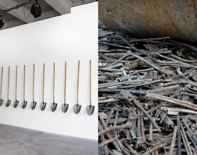"""""""Paletas con Pistolas"""": El proyecto artístico que convirtió armas de fuego en palas para plantar árboles"""