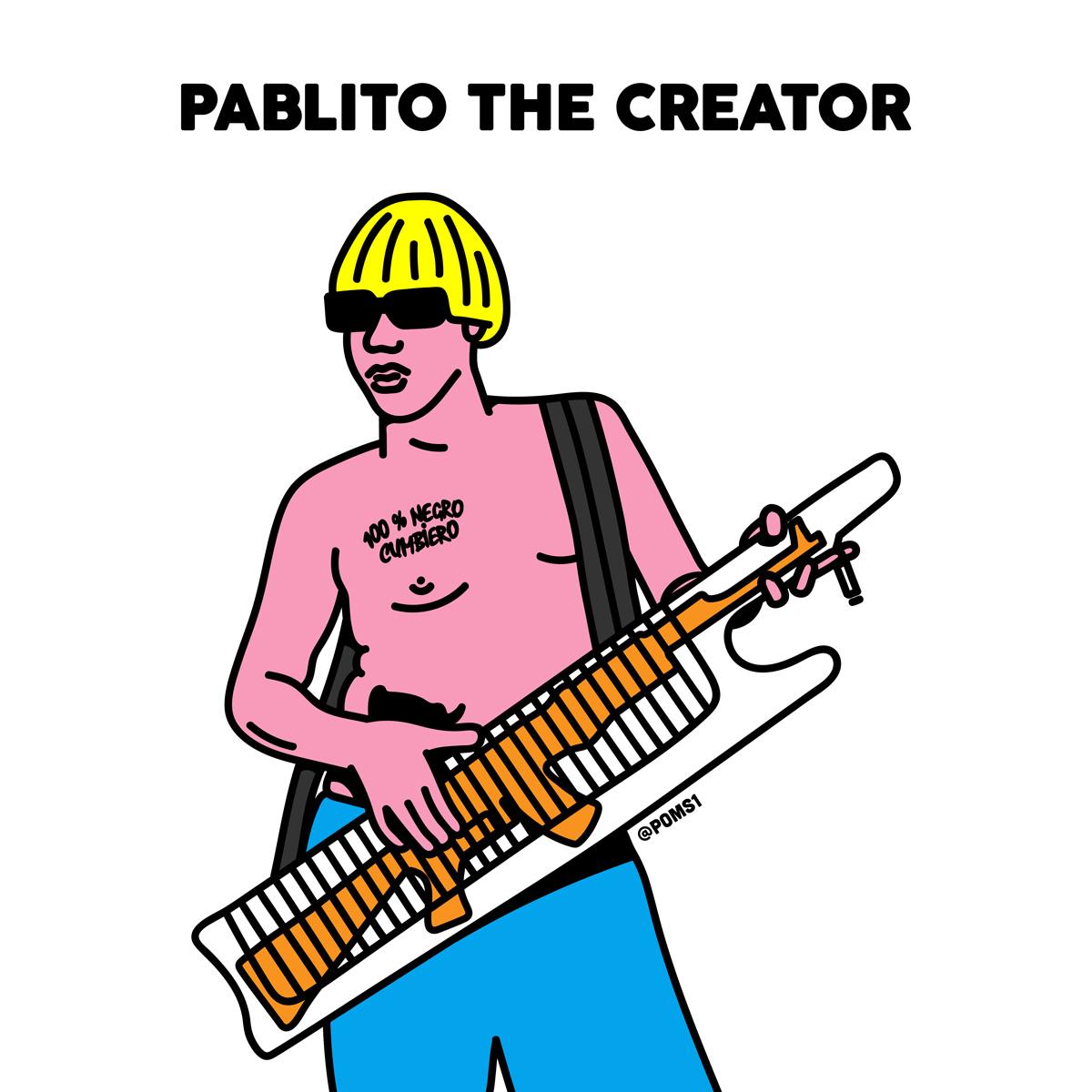 """""""Pablito The Creator"""". Ilustración: Poms"""