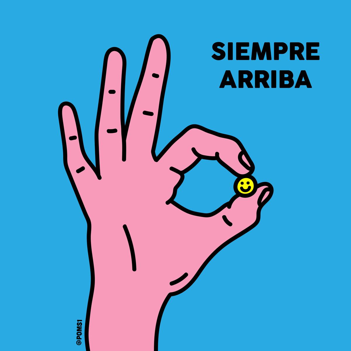 """""""Siempre Arriba"""". Ilustración: Poms"""