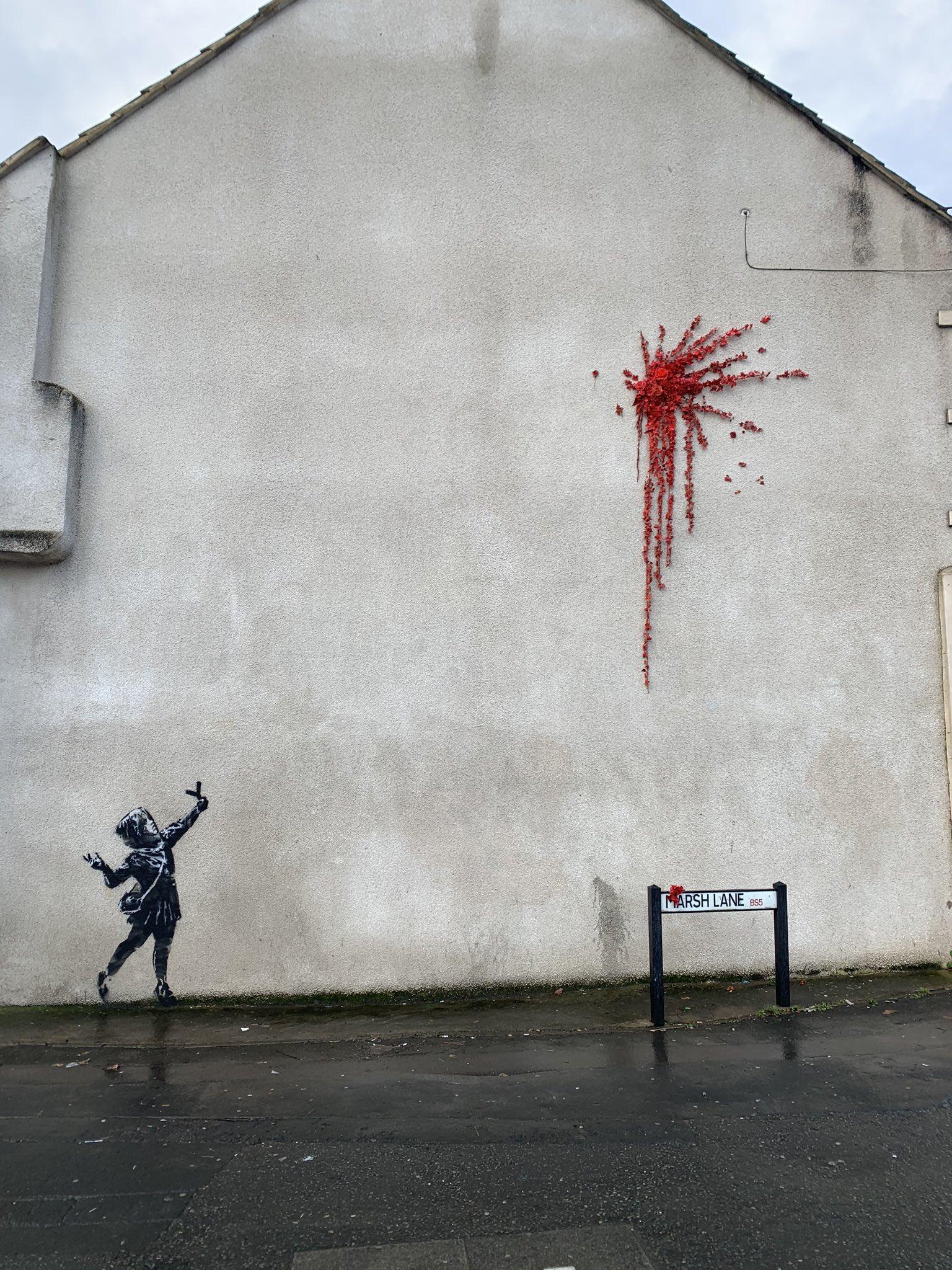 Banksy devela un nuevo mural en Bristol para el día de San Valentín