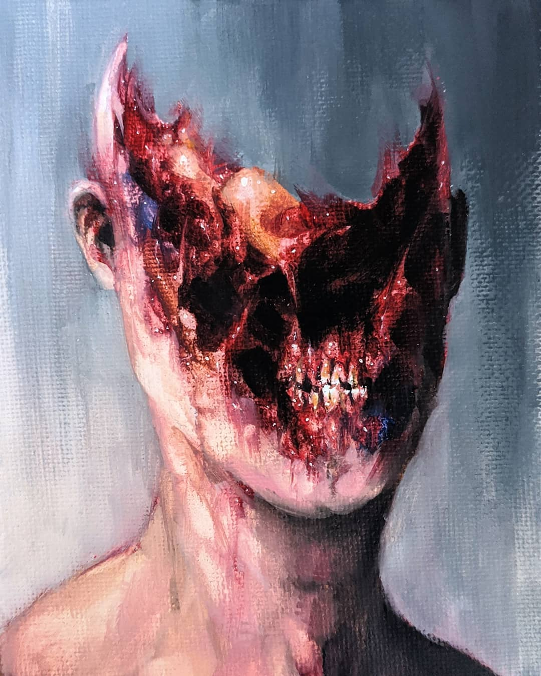 Conoce a Dusty Ray, el artista que crea bestias mutantes y surrealistas llenas de gore en gouache y acuarelas