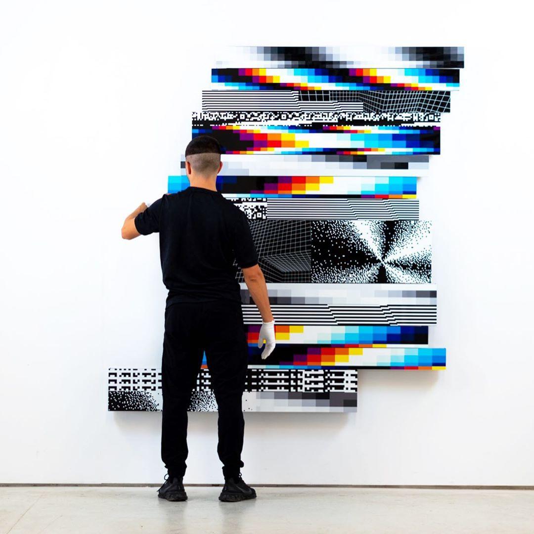 """Felipe Pantone lleva pinturas modulares manipulables físicamente a su exposición """"BIG TIME DATA"""" en México"""