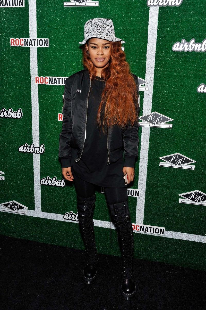 Teyana Taylor en un evento de Roc Nation. Fotografía: Pinterest