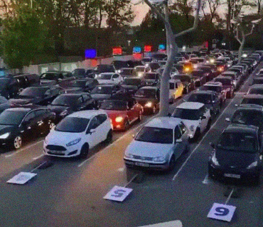 En Alemania se organizó una rave en modo autoservicio en medio del distanciamiento social por el COVID-19
