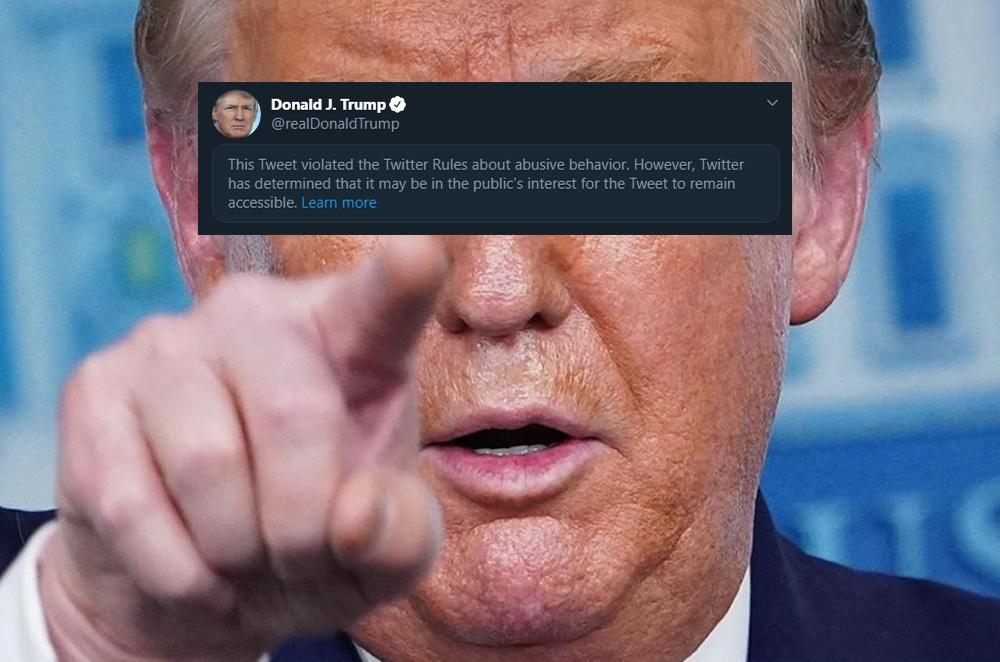 Twitter sanciona otro post de Trump por violar reglas contra el comportamiento abusivo en la red