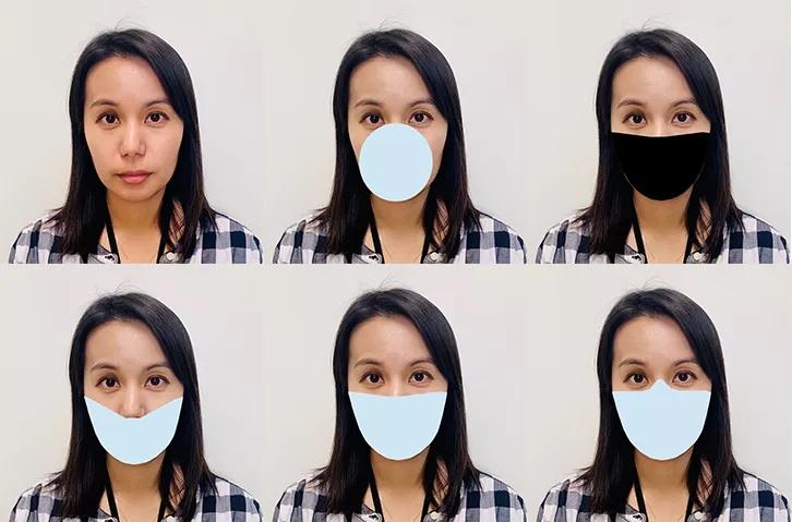 Algunas de las diferentes siluetas de máscarillas analizadas por el estudio. Fotografía: The Verge/NIST
