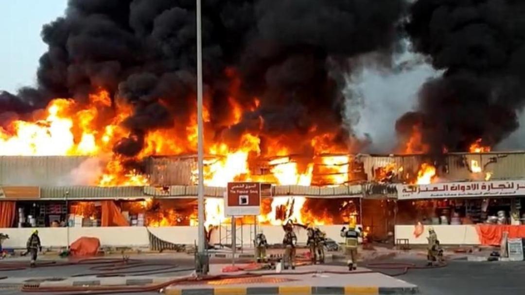Emiratos Árabes Unidos: Incendio en mercado de Ajman sacude al país