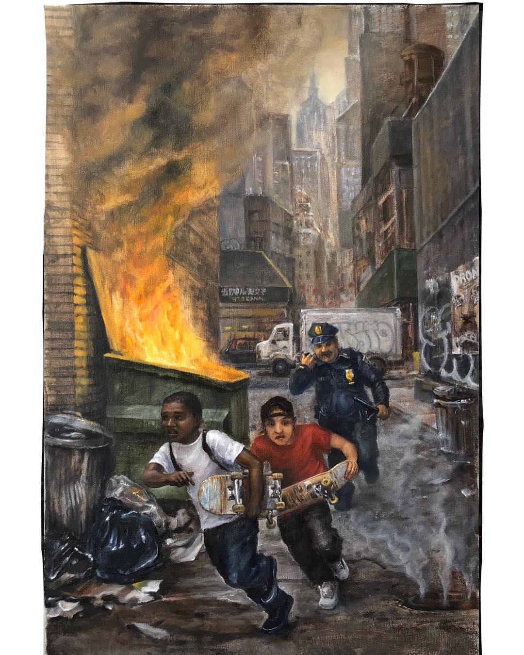 Conoce a Andrew Durgin-Barnes, el pintor que usa el clasicismo para retratar las realidades en entornos desconocidos