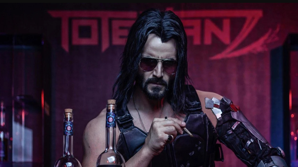 """""""Cyberpunk  2077"""": Keanu Reeves es un rockstar post-apocalíptico en el nuevo trailer del videojuego"""