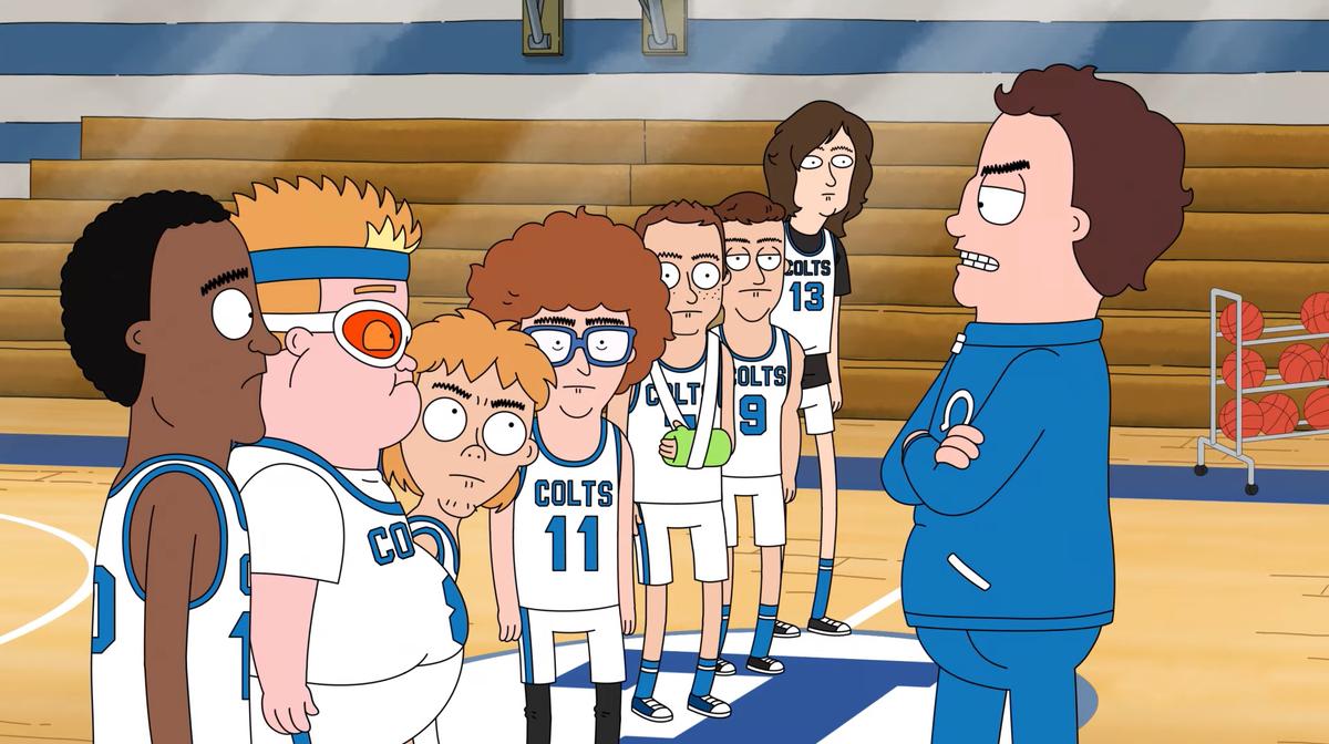 """""""HOOPS"""": Un coach de baloncesto malhumorado es el protagonista de la nueva serie animada NSFW de Netflix"""