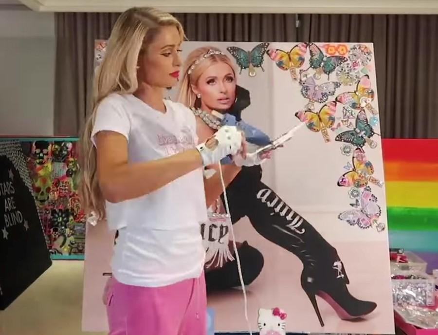 """La pintura + """"This Is Paris"""": los nuevos proyectos de vida de Paris Hilton"""