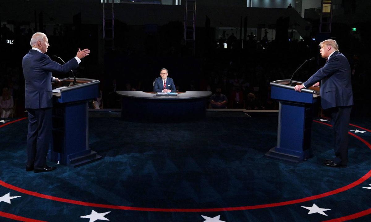Así fue el caótico primer debate presidencial entre Donald Trump y Joe Biden