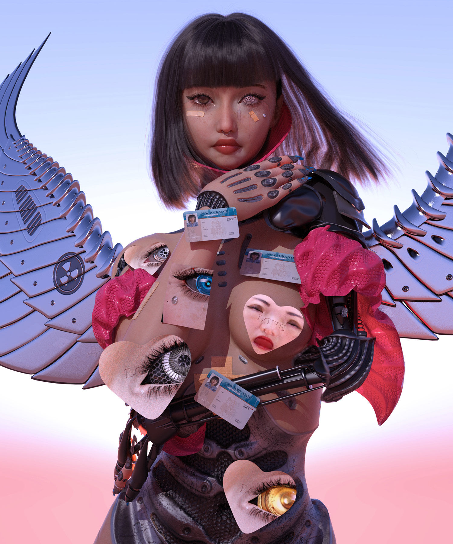 Conoce a Ruby Gloom, la artista transhumanista que se transforma guerrera digital del futuro a través de avatares 3D