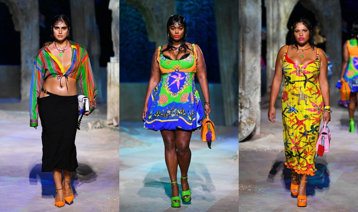 Versace hace historia en la pasarela usando modelos plus-size por primera vez