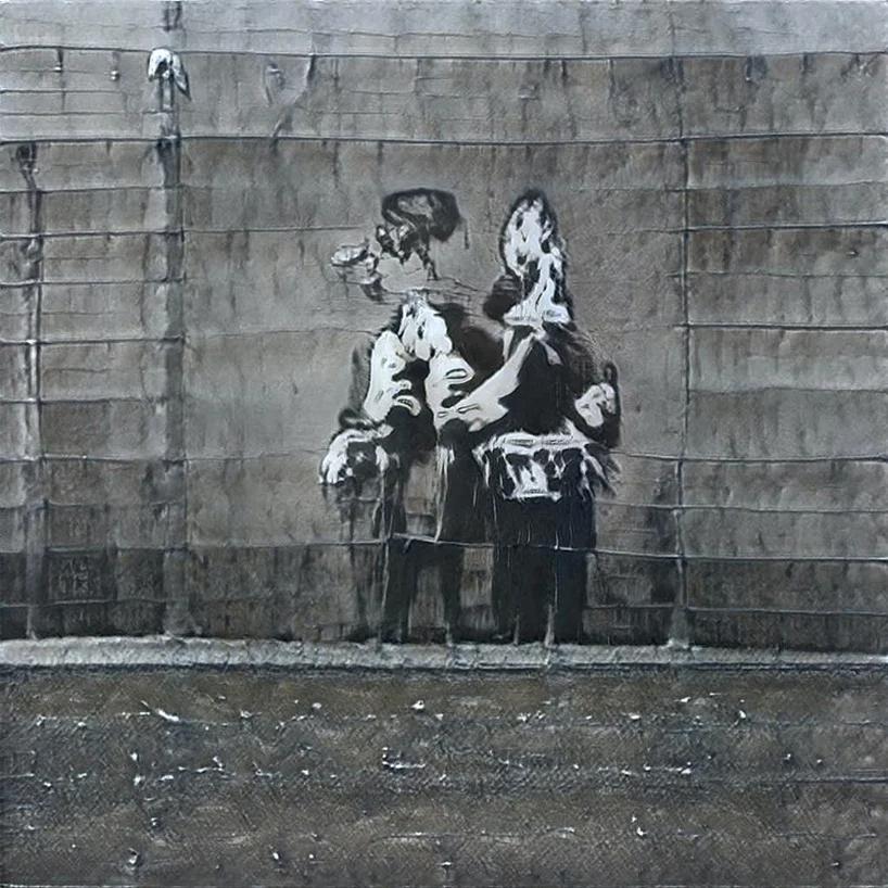GANKsy, un bot de Inteligencia Artificial, aprendió a hacer street art inspirado en Banksy