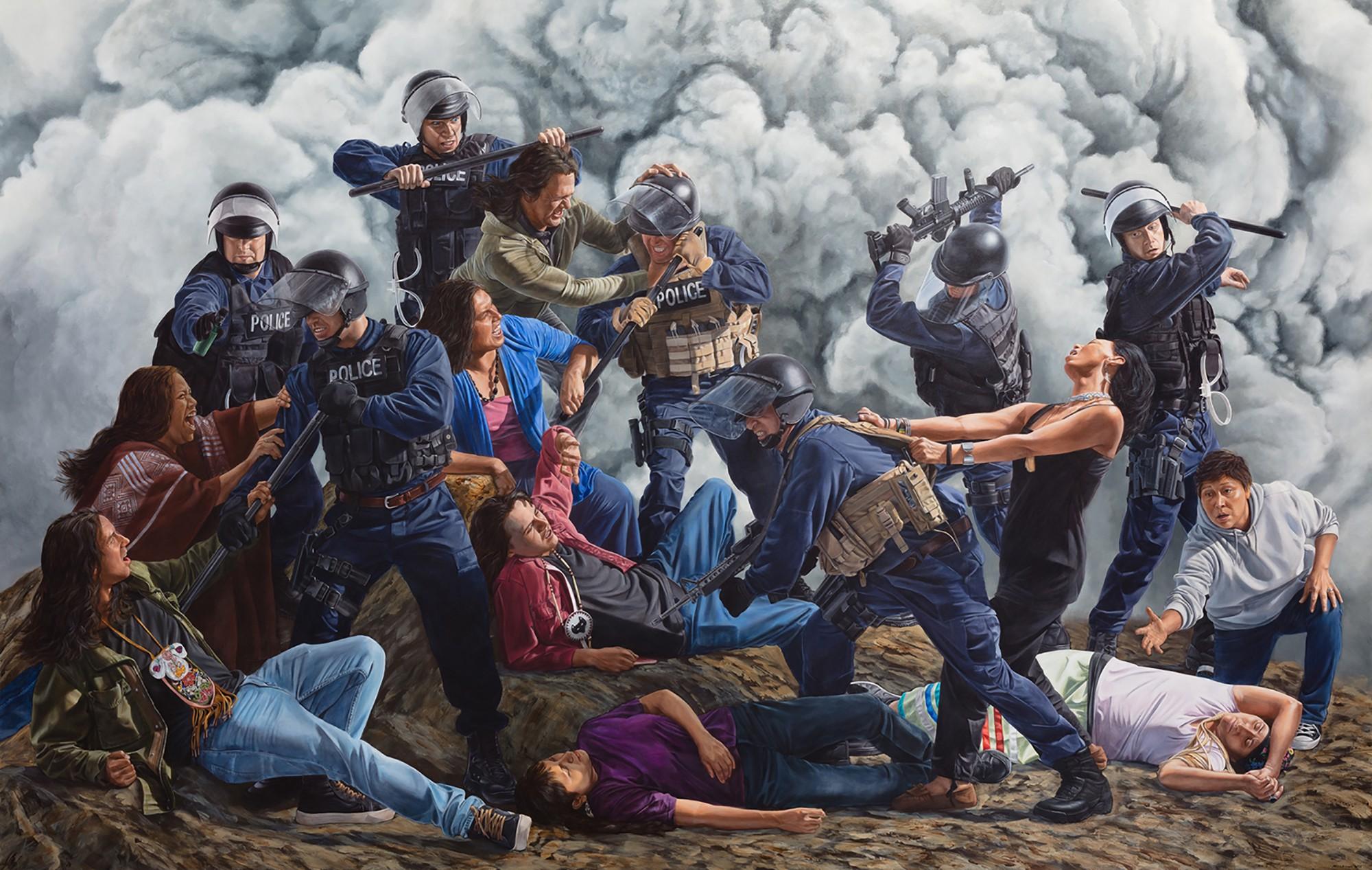 """Victory For The Water Protectors"", de Kent Monkman."