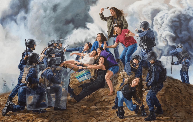"""With Our Bodies We Protect The Land"", de Kent Monkman."