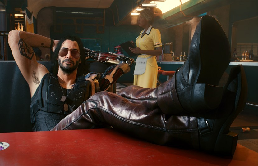 """""""Cyberpunk 2077"""": Dale un vistazo a Keanu Reeves como Johnny Silverhand en este nuevo adelanto"""