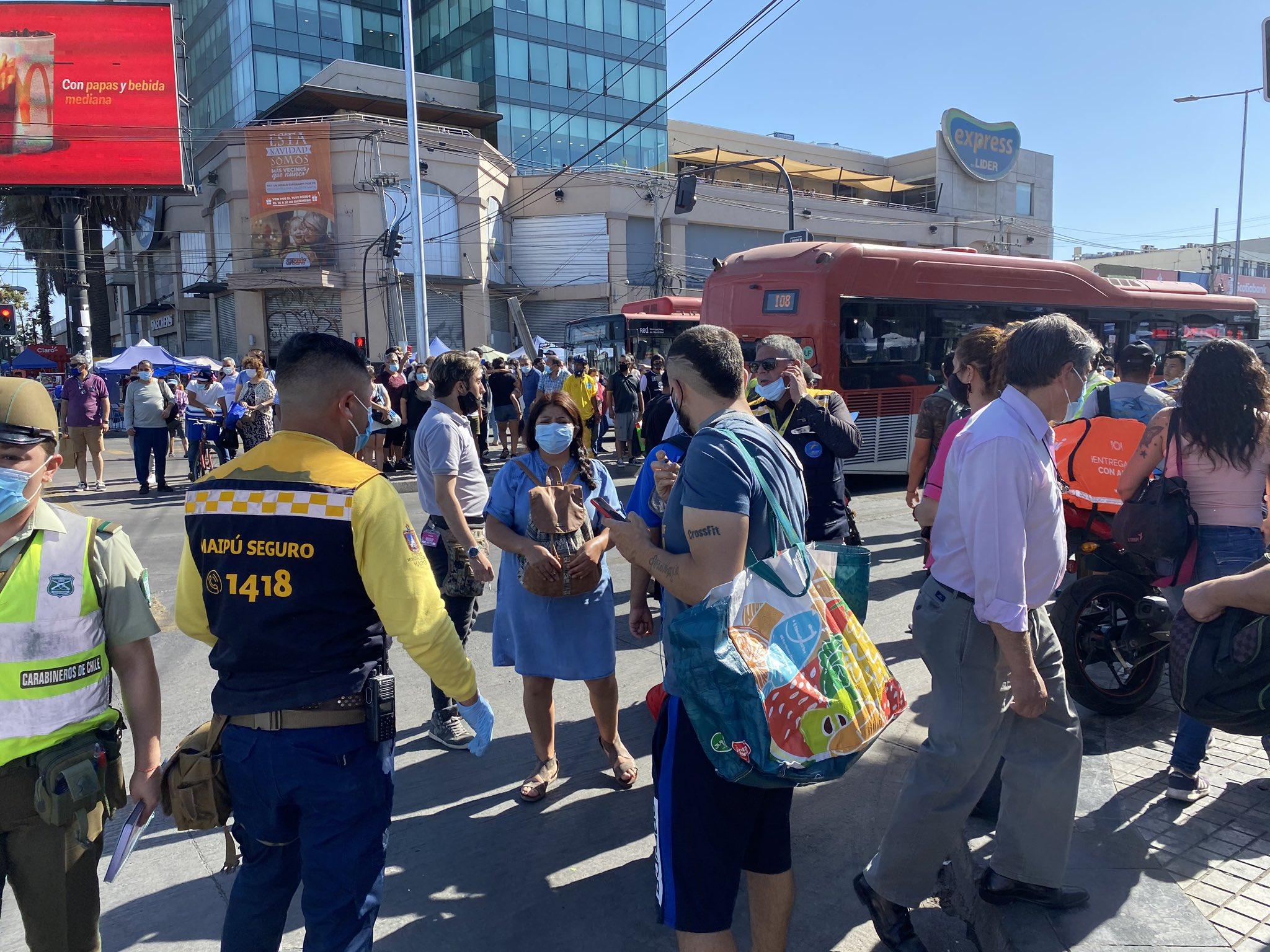 Chile: Balacera en Plaza de Maipú forza a reunión entre Alcaldía y Ejecutivo para tomar medidas de seguridad