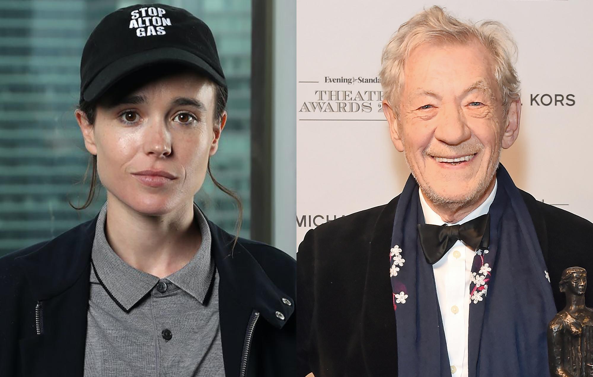 """Ian McKellen revela estar orgulloso por Elliot Page y """"muy feliz"""" por su  transición"""